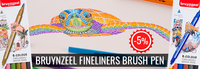 Bruynzeel fineliners brush-5