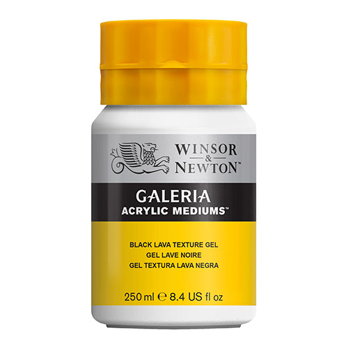 Winsor&Newton galeria medium czarna lawa 250ml