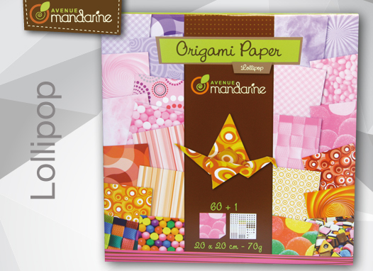Papier do origami 20x20 60k lollipop