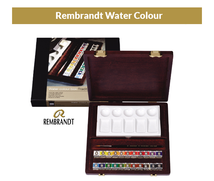 Rembrandt Set of watercolors in a wooden case 22 col