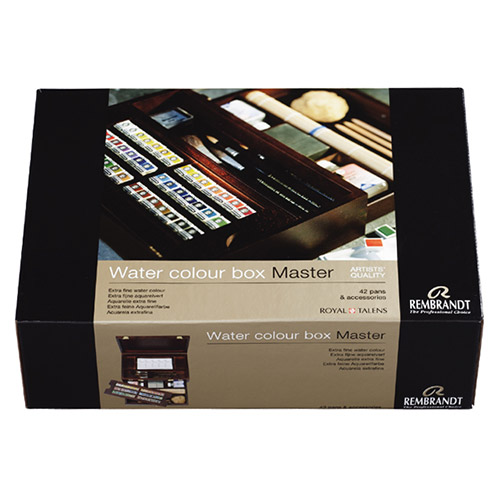 Set of watercolors in wooden box Master 42 col Rembrandt