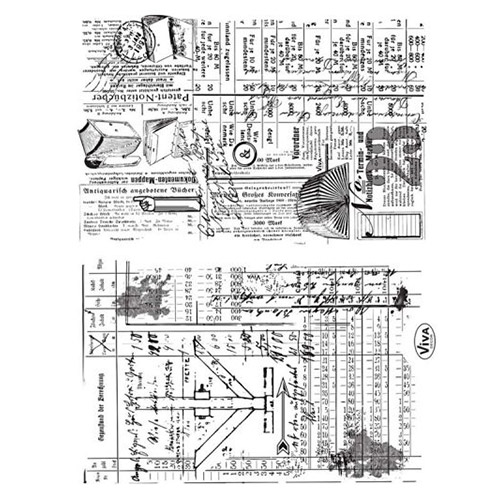 Viva Decor A5 Clear Silicone Stamps Set - Sketches