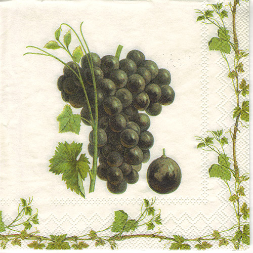 Serwetka do decoupage 32-IHR C60800 grape harvest red