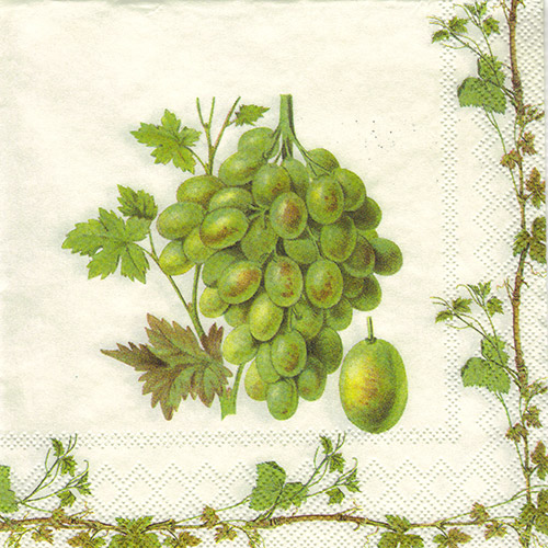 Serwetka do decoupage 32-IHR C607900 grape harvest white