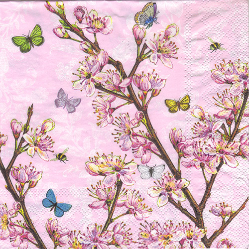 Serwetka do decoupage Ambiente 27-13309350 blossom rose