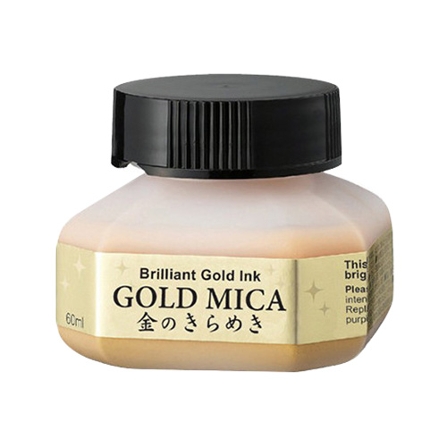 Kuretake mica gold 60ml złoty tusz do kaligrafii