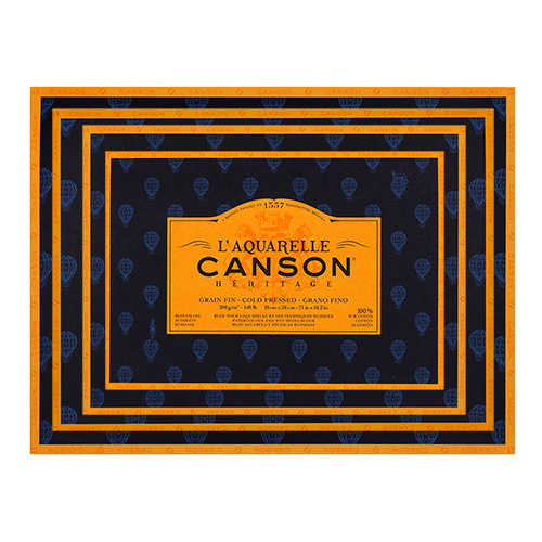 Canson Heritage block fine-grained watercolor 300g 20 sheets