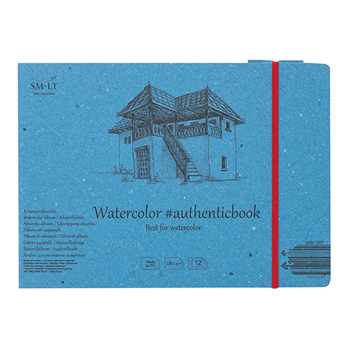 SM-LT Watercolor Pad block sewn with A5 rubber band 280g 12ark