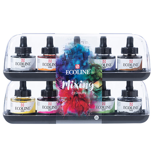 Talens ecoline mixing colours faby akwarelowe 10x30ml