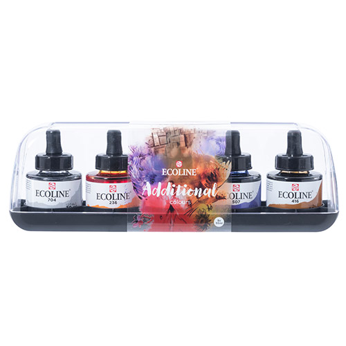Talens ecoline additional colours faby akwarelowe 5x30ml