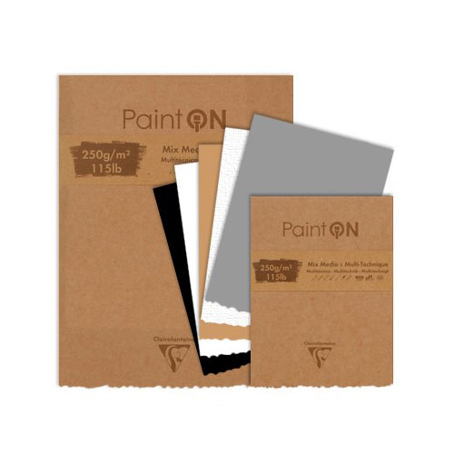 Blok Clairefontaine paint on mix media 250g 50ark