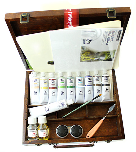 Set paints and tools painter Renesans -oil- 18 items