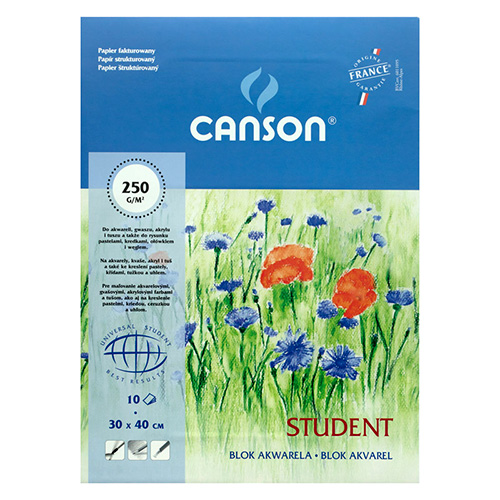 Canson student block for watercolors 250g 10 sheets