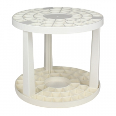 Plastic stand for round brushes