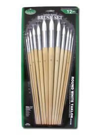 The set of 12 pbrushes ROYAL series RL9606 white synthetic round