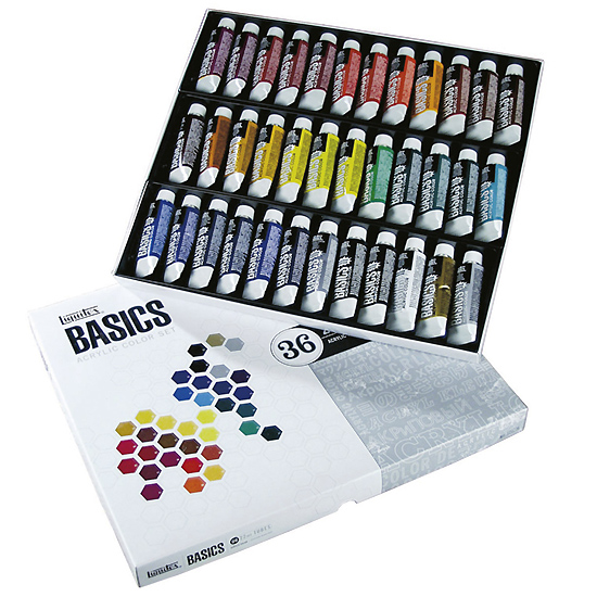 Liquitex basics set of acrylic paints 36x22ml