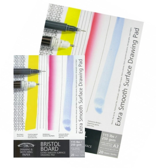 Blok Winsor&Newon bristol extra smooth drawing pad 250g 20ark