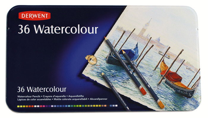 Set of crayons watercolor Derwent - 36 colors
