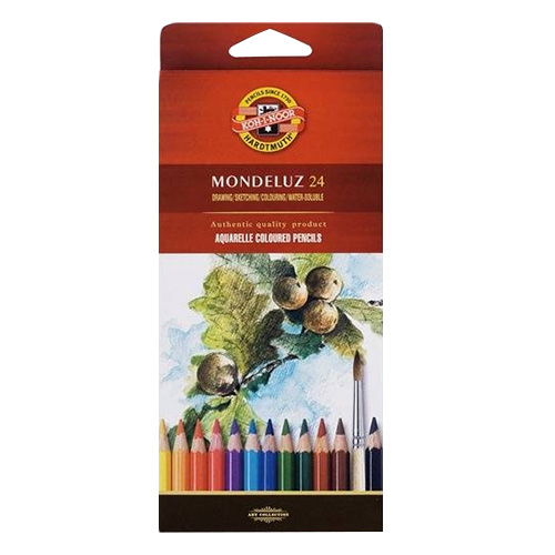 Koh-i-noor mondeluz set of 12 watercolors pencils carton pack