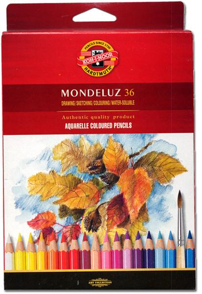 Koh-i-noor mondeluz set of 36 watercolors pencils carton pack