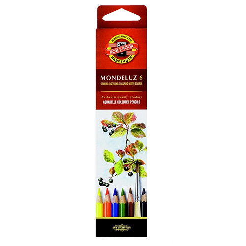 Koh-i-noor mondeluz set of 6 watercolors pencils carton pack