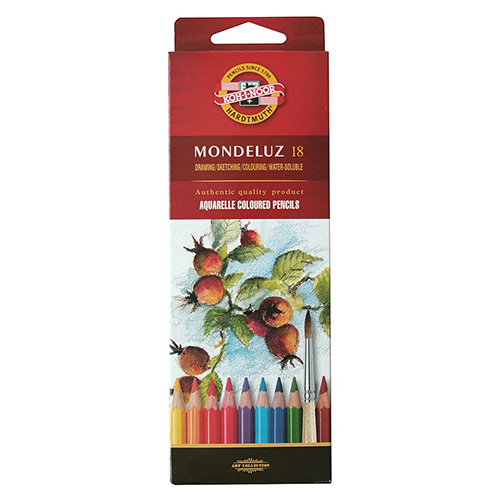 Koh-i-noor mondeluz set of 18 watercolors pencils carton pack