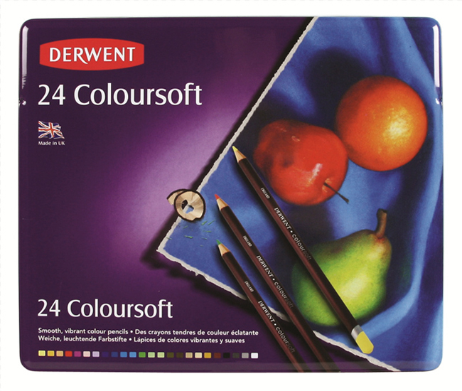 The set of crayons Derwent Coloursoft - 24 colors