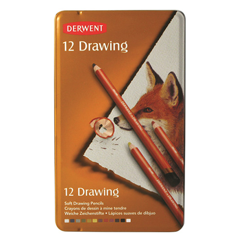Crayons for painting Derwent 12 pieces