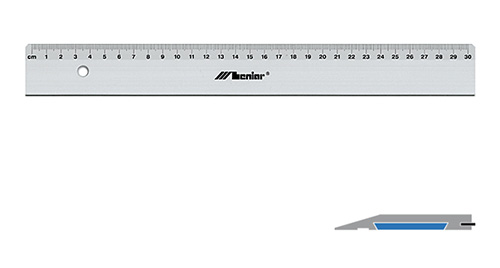 Aluminum cutting ruler with Leniar insert