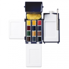 Winsor&Newton artists field box zestaw akwareli 12 kostek