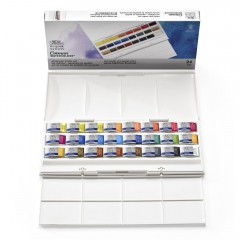 Winsor&Newton cotman the studio set zestaw akwareli 24 kostki
