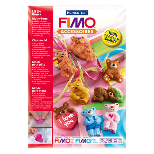 STAEDTLER FIMO form - small teddy bears