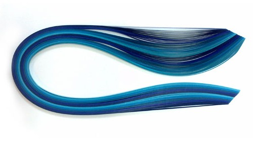 Quilling strips, shades of blue 3, 5, 10 mm
