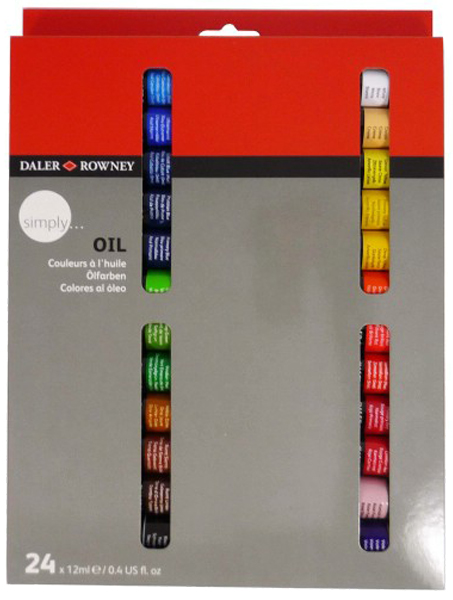 Daler Rowney Simply 24x12ml oil paint set