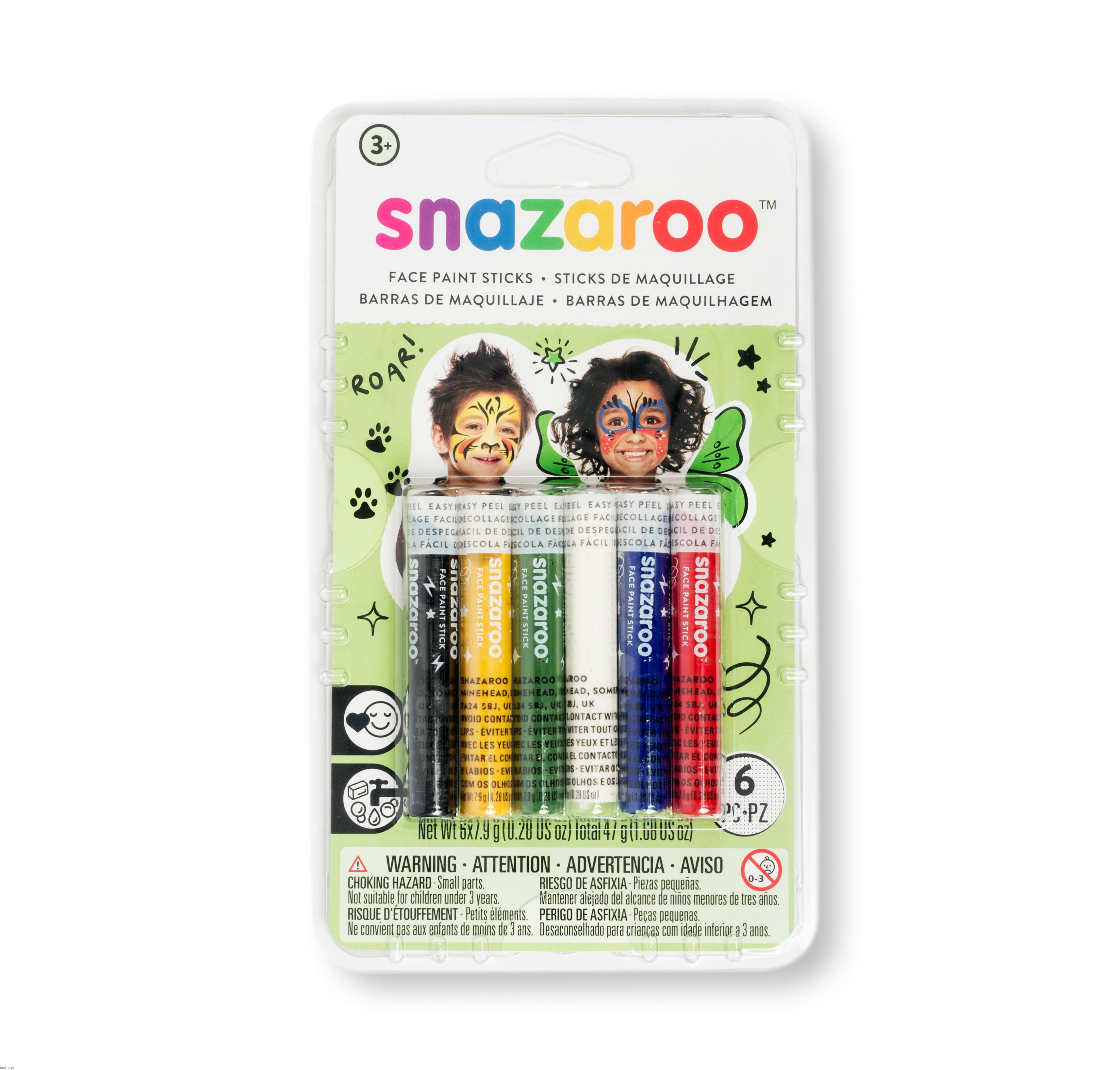SNAZAROO FACE CARDS - universal set