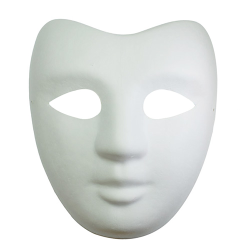 Paper Mache Mask with elastic band Actor Face
