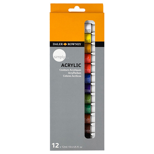 Daler Rowney simply acrylic paints set 12 x 12 ml