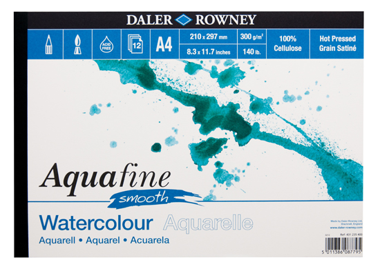 Blok Daler Rowney aquafine smooth do akwareli 300g 12ark