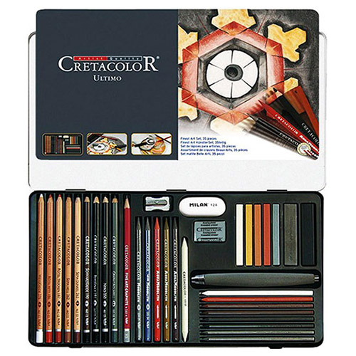 Cretacolor ultimo drawing drawing set of 35 elements