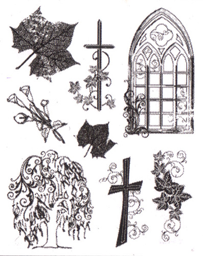 Viva Decor A5 Clear Silicone Stamps Set - Condolence