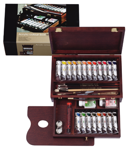 Rembrandt Master acrylic paint set + Accessories