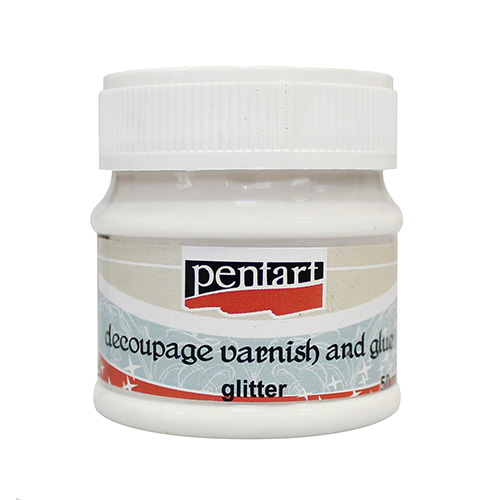 Adhesive with 50ml Pentart glitter