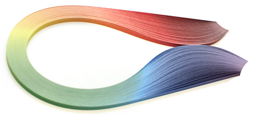 Quilling strips, shaded mix of 3, 5, 10 mm