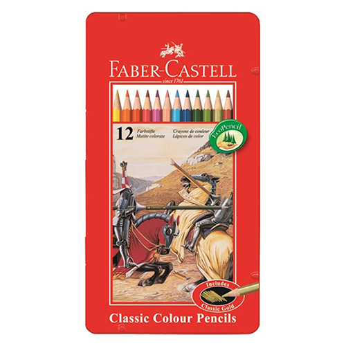 Faber-Castell knights set of 12 colored pencils in a pack
