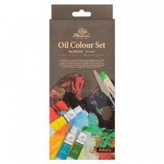 Phoenix oil paints set - 12 colors