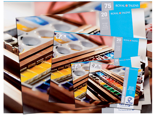 Talens van gogh block for watercolors 200g 20 sheets