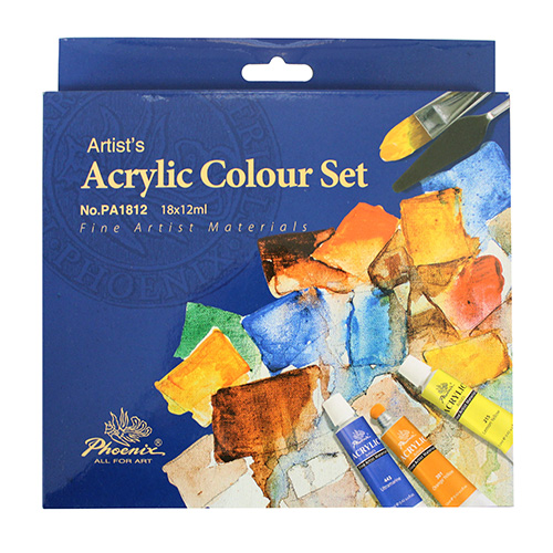 Set of acrylic paints Phoenix - 18 colours