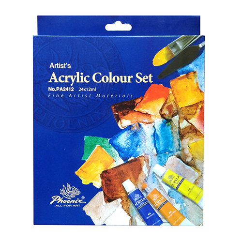 Set of acrylic paints Phoenix - 24 colors