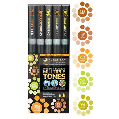 Chameleon earth tones set of 5 markers