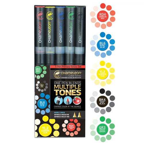 Chameleon primary tones set of 5 markers